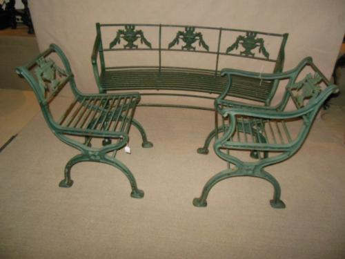 Garden:Cast Iron Regency Set 3 piece set