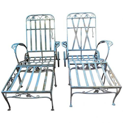 Salterini Mt Vernon pair of 2 piece chaises. SOLD