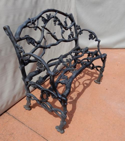 Garden Twig or Rustic Cast Iron Bench
