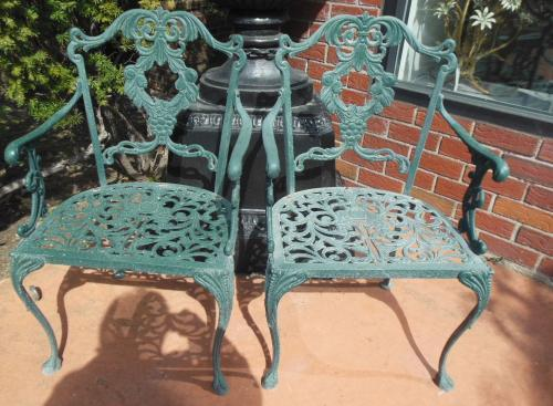 Molla Aluminum Pr of Dining Chairs. HOLD