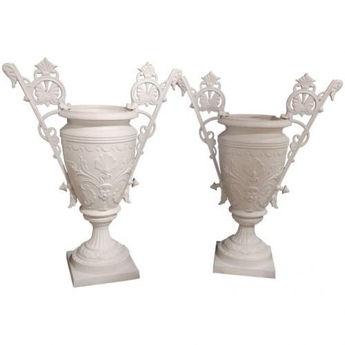 Garden Urns, Mott, Cast Iron Victorian