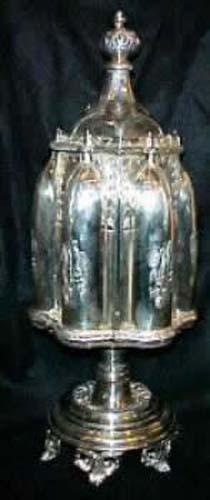 Victorian Silverplate Revolving  Castor: