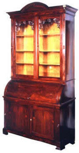 Victorian  Rosewood Cylinder Secretary SOLD