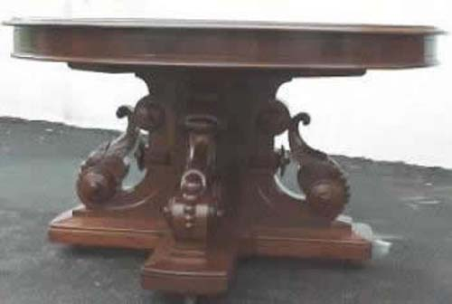 Victorian Walnut & Burl Dining  Table