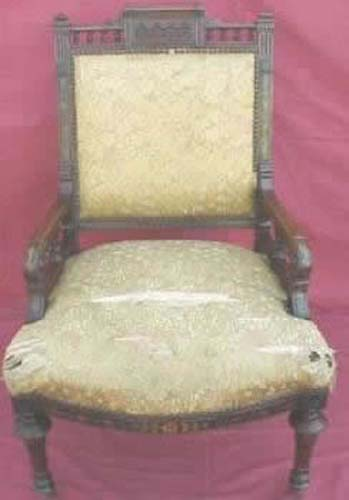 """Herter Bros"" Victorian Inlaid Chair. SOLD"