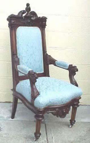 Victorian Renaissance Revival Figural Armchair