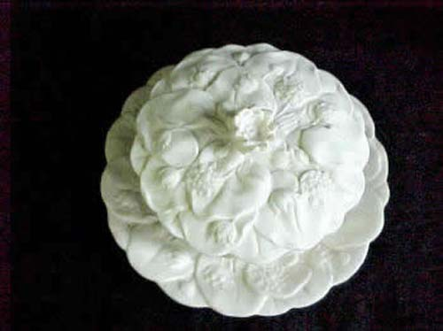 Parian Covered Bowl & Plate