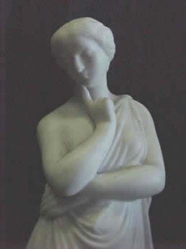 Classical Parian Figurine Of A Woman