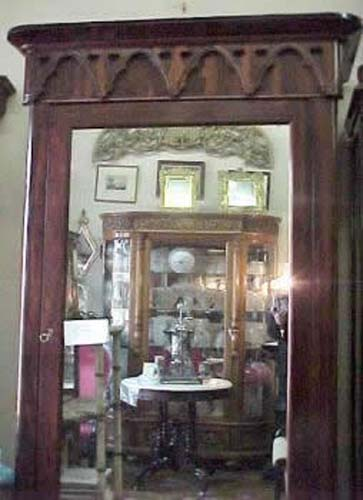 Rosewood Gothic Revival Armoire