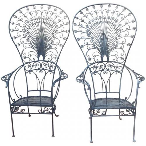 Chairs,Salterini Peacock Chairs Rare
