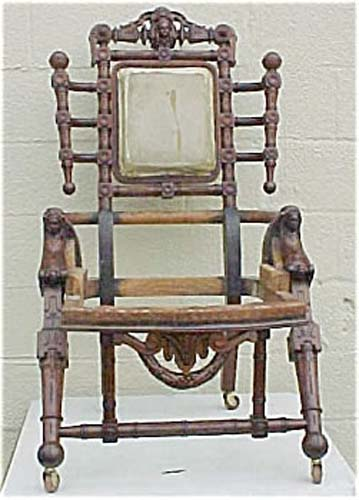 Hunzinger Victorian Rare Figural Chair SOLD