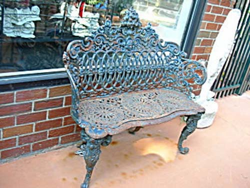 Victorian Cast Iron Garden Bench SOLD