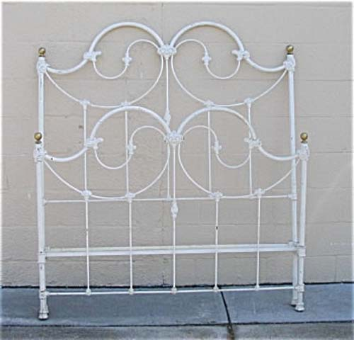 Victorian Cast Iron & Brass Bed