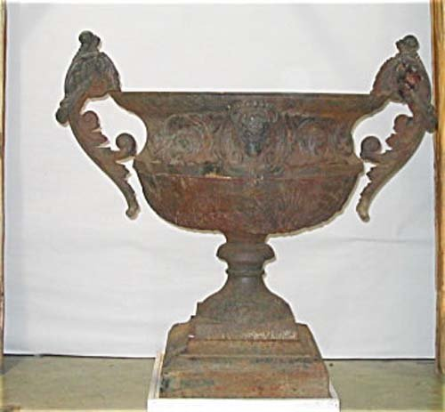 Victorian Cast Iron Garden Urn.  SOLD