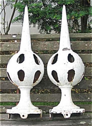 Pair of Cast Iron Finials