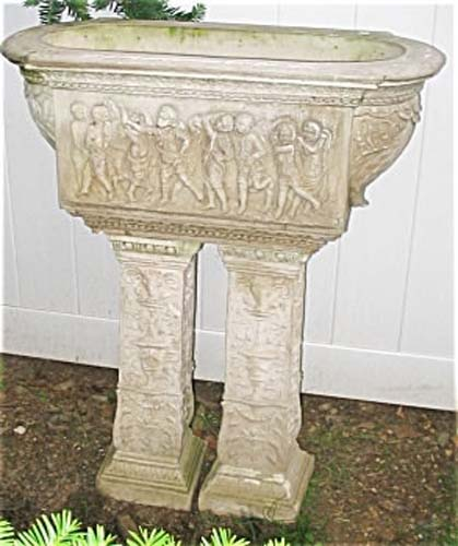 Garden Planter: Sandstone With Figures Sold