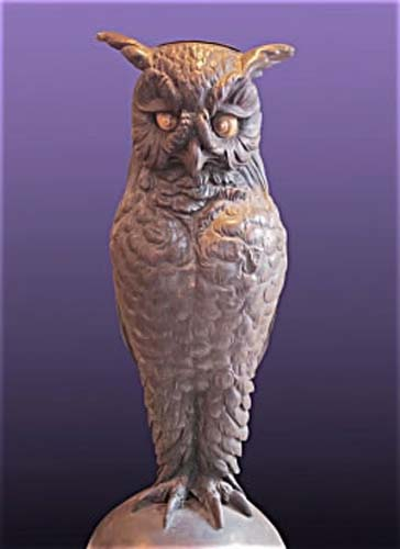 Vienna Bronze Owl Umbrella  Holder