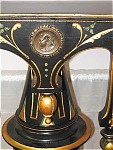 Vict.Kilian Bros Ebonized Pedestal -SOLD
