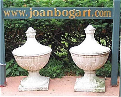 Stone Finials  Antique Pair