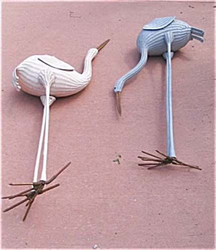 Garden: Pair of Wicker Birds