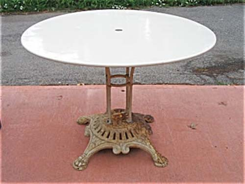 Garden: Wrought Iron Table