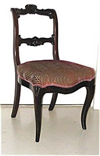 Victorian Rococo Revival Rosewood Side Chair