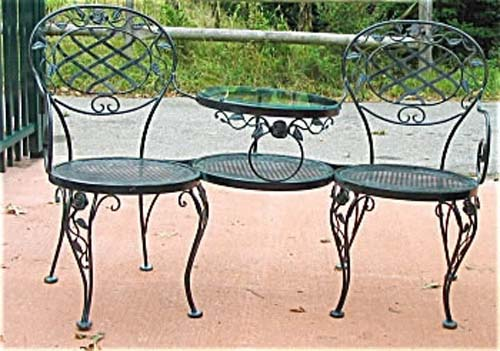 Woodard Wrought Iron Tete A Tete SOLD