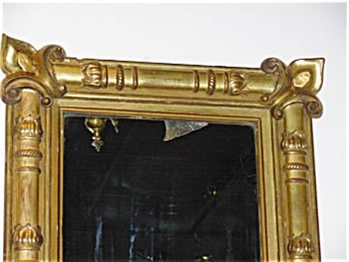 Mirror: Antique American Gilt Classical