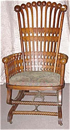 Hunzinger Oak Platform Rocker SOLD