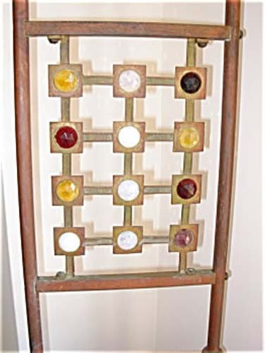 Antique Aesthetic Brass Fireplace Tool Holder SOLD