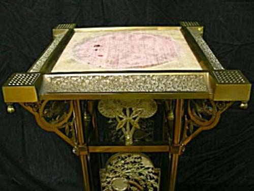 Victorian Aesthetic Brass Table By Meridan SOLD