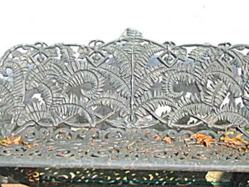 Victorian Cast Iron Fern Garden Bench