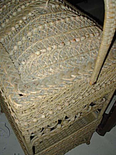 Victorian Wicker Sewing Basket