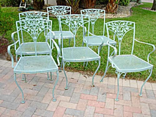 6 Vintage Woodard Armchairs SOLD