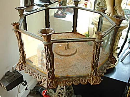 Victorian Fiske Cast Iron Terrarium