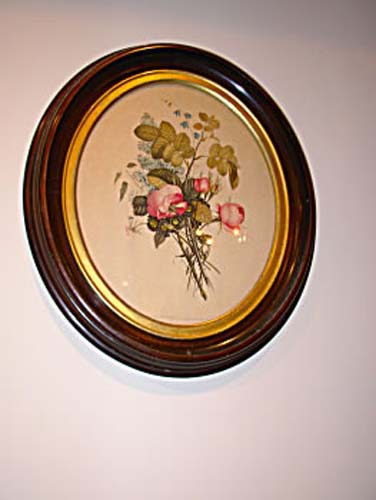 Walnut Victorian Frames With Prints