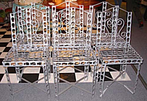 Garden Antiques Wrought Iron Ch. SOLD