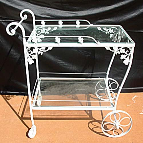 Woodard Orleans Wrought Iron Tea Cart SOLD