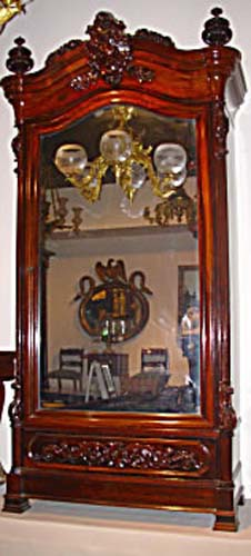 Armoire: Meeks Victorian Rococo Rosewood Armoire