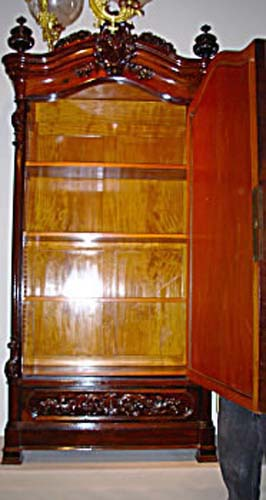 Armoire: Meeks Victorian Rococo Rosewood Armoire S