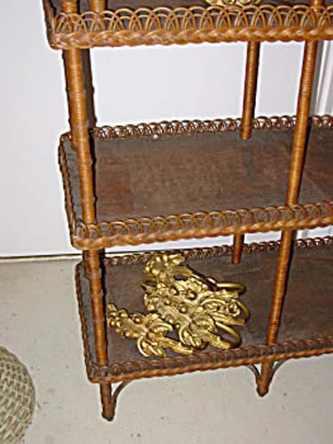 Victorian Wicker What Not