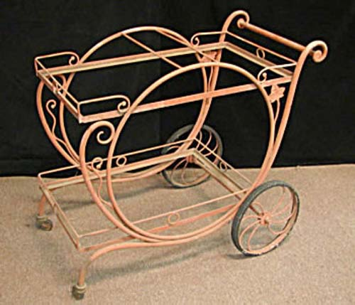 Salterini  Wrought Iron Tea Cart SOLD