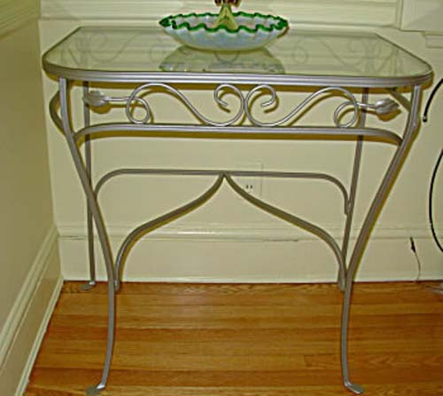 Salterini Wrought Iron Console Pr Tables