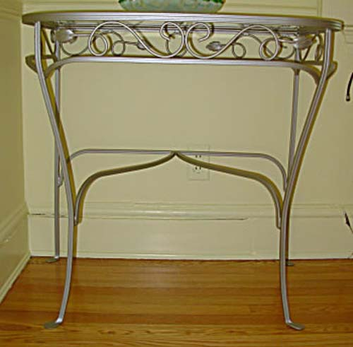 Salterini Wrought Iron Console Pr Tables SOLD