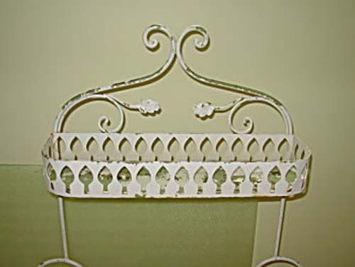 Salterini Wrought Iron Planter-Shabby Chic