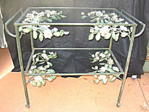Wrought Iron Teacart SOLD