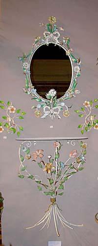 Italian Tole Mirror & Console- Sold