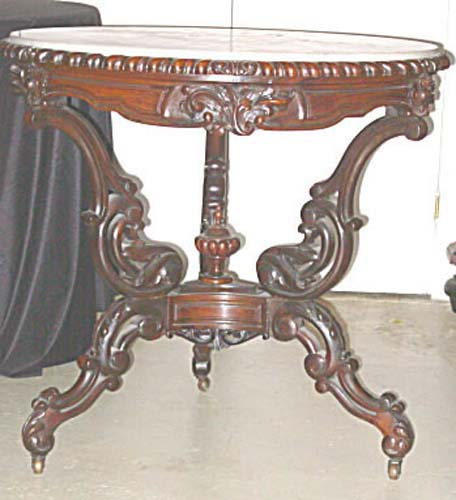 Captivating Table:Rococo Rosewood U0026 Marble Top SOLD