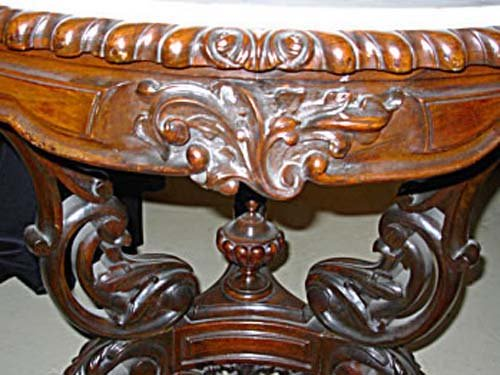 Table:Rococo Rosewood & Marble Top