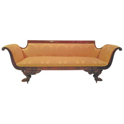 Sofa, American Classical NY Sofa in the Phyfe styl